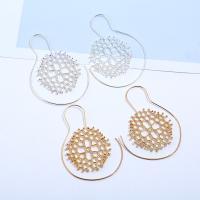 Zinklegierung Ohrringe, Edelstahl Stecker, Spirale, plattiert, für Frau, keine, frei von Blei & Kadmium, 45x62mm, verkauft von Paar