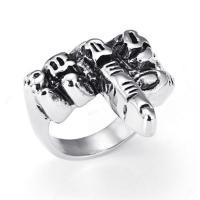Titanstahl Fingerring, Hand, poliert, verschiedene Größen vorhanden & für den Menschen & Schwärzen, 22mm, Bohrung:ca. 15mm, verkauft von PC