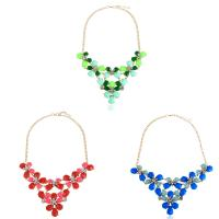 Zinklegierung Schmuck Halskette, mit Verlängerungskettchen von 2.3Inch, goldfarben plattiert, Twist oval & für Frau & mit Strass, frei von Nickel, Blei & Kadmium, 80mm, verkauft per ca. 18.8 ZollInch Strang
