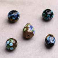 Lampwork Perle, handgemacht, verschiedene Größen vorhanden & gemischt, Bohrung:ca. 2mm, verkauft von PC