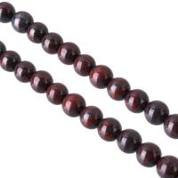 Jaspis Brecciated Perle, rund, natürliche, 8mm, Bohrung:ca. 0.7mm, ca. 46PCs/Strang, verkauft per ca. 16 ZollInch Strang