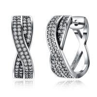 comeon® Schmuck Ohrring, Thailand, Micro pave Zirkonia & für Frau, 7x18mm, verkauft von Paar