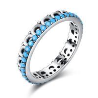 comeon® Finger-Ring, Thailand, mit Synthetische Türkis, verschiedene Größen vorhanden & für Frau, 4mm, verkauft von PC