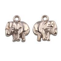 Verkupfertes Kunststoff Anhänger, Verkupferter Kunststoff, Elephant, Helle Goldfarbe überzogen, 13.50x15.50x4mm, Bohrung:ca. 1mm, 100PCs/Tasche, verkauft von Tasche