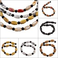 Glasierte Porzellan Perlen, Trommel, glaciert, keine, 15x7mm, Bohrung:ca. 1mm, 10PCs/Strang, 10SträngeStrang/Tasche, verkauft per ca. 8 ZollInch Strang