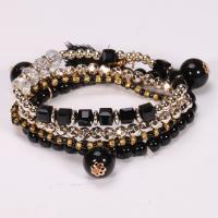 Glas Armband-Set, Armband, mit Harz & Zinklegierung, für Frau, keine, 3-6mm, Länge:ca. 7.5 ZollInch, 4SträngeStrang/setzen, verkauft von setzen