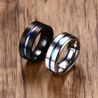 Edelstahl Herren-Fingerring, plattiert, verschiedene Größen vorhanden & für den Menschen, keine, 8x2.6mm, verkauft von PC