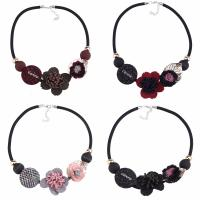 Zinklegierung Halskette, mit Nylonschnur & Baumwollsamt, mit Verlängerungskettchen von 1.9lnch, plattiert, für Frau, keine, frei von Nickel, Blei & Kadmium, 60mm, verkauft per ca. 18.5 ZollInch Strang