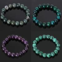 Edelstein Armbänder, rund, verschiedenen Materialien für die Wahl & verschiedene Größen vorhanden, verkauft per ca. 7.4 ZollInch Strang