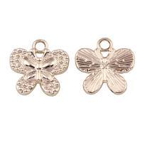 Zinklegierung Tier Anhänger, Schmetterling, vergoldet, frei von Blei & Kadmium, 18x18x2mm, Bohrung:ca. 2mm, 20PCs/Tasche, verkauft von Tasche