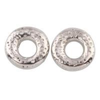 Verkupferter Kunststoff Großes Loch Perlen, Kreisring, Platinfarbe platiniert, 21x5mm, Bohrung:ca. 8mm, 20PCs/Tasche, verkauft von Tasche