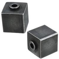 Edelstahl Perle, Schwärzen, 8x10x8mm, Bohrung:ca. 2mm, 10PCs/Menge, verkauft von Menge