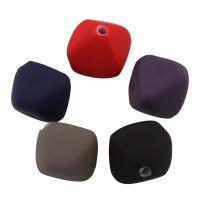 Acryl Perle, gummierte, gemischte Farben, 15.50x16.50x16.50mm, Bohrung:ca. 2mm, ca. 300PCs/Tasche, verkauft von Tasche