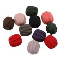 Acryl Perle, gummierte, gemischte Farben, 13x12x11mm, Bohrung:ca. 1mm, ca. 440PCs/Tasche, verkauft von Tasche