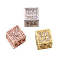 Befestigte Zirkonia Perlen, Messing, plattiert, Micro pave Zirkonia, keine, frei von Nickel, Blei & Kadmium, 6mm, Bohrung:ca. 1mm, verkauft von PC