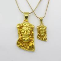 Zinklegierung Pullover Halskette, mit Messingkette, Kruzifix, goldfarben plattiert, unisex & verschiedene Größen vorhanden & Schlangekette, frei von Nickel, Blei & Kadmium, verkauft per ca. 23.6 ZollInch Strang