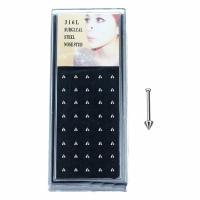 Edelstahl-Beads, Edelstahl, mit Kunststoff Kasten, unisex, originale Farbe, 2x9mm, 20PaarePärchen/Box, verkauft von Box