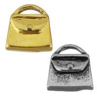 Edelstahl Schmuck Anhänger, Handtasche, plattiert, keine, 9.50x9.50x4mm, Bohrung:ca. 4x1.5mm, 10PCs/Tasche, verkauft von Tasche