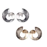 Zinklegierung Ohrstecker, plattiert, gebürstet & für Frau & hohl, keine, frei von Nickel, Blei & Kadmium, 42x45mm, verkauft von Paar