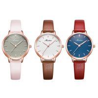 MEIBIN® Damen Schmuck Uhren, PU Leder, mit Glas & Edelstahl, plattiert, für Frau, keine, 30x9mm, Länge:ca. 7.5 ZollInch, verkauft von PC