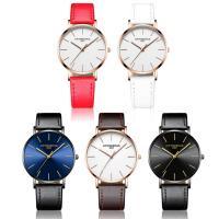 PU Leder Armbanduhr, mit Zinklegierung Zifferblatt & Glas & Edelstahl, plattiert, 30 m wasserdicht & unisex & einstellbar, keine, 40x6mm, Länge:ca. 9 ZollInch, verkauft von PC