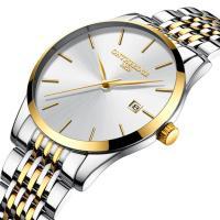 ONTHEEDGE®-Männer-Schmuck-Uhren, Edelstahl, mit Zinklegierung Zifferblatt & Glas, plattiert, 30 m wasserdicht & für den Menschen, keine, 40x7mm, Länge:ca. 9 ZollInch, verkauft von PC