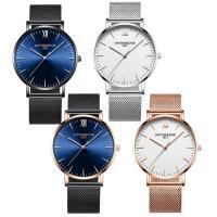 ONTHEEDGE®-Männer-Schmuck-Uhren, Edelstahl, mit Zinklegierung Zifferblatt & Glas, plattiert, 30 m wasserdicht & für den Menschen, keine, Länge:ca. 9 ZollInch, verkauft von PC