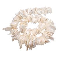 Barock kultivierten Süßwassersee Perlen, Natürliche kultivierte Süßwasserperlen, natürlich, verschiedene Größen vorhanden, weiß, Bohrung:ca. 0.8mm, verkauft per ca. 15 ZollInch Strang