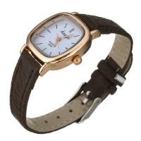 Damen Armbanduhr, PU Leder, mit Glas & Zinklegierung, plattiert, einstellbar & für Frau, keine, frei von Nickel, Blei & Kadmium, 22x6mm, Länge:ca. 7.8 ZollInch, verkauft von PC