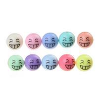 Volltonfarbe Acryl Perlen, rund, gemischte Farben, 12mm, Bohrung:ca. 3-4mm, 50PCs/Tasche, verkauft von Tasche