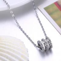 925 Sterling Silber Halskette, mit Verlängerungskettchen von 1.9lnch, platiniert, Oval-Kette & Micro pave Zirkonia & für Frau, 11x13mm, verkauft per ca. 15.7 ZollInch Strang
