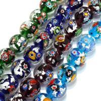 Handgewickelte Perlen, Lampwork, verschiedene Größen vorhanden, keine, Bohrung:ca. 3mm, verkauft per ca. 9 ZollInch Strang