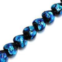 Handgewickelte Perlen, Lampwork, Herz, verschiedene Größen vorhanden, Bohrung:ca. 1mm, verkauft per ca. 8.5 ZollInch Strang