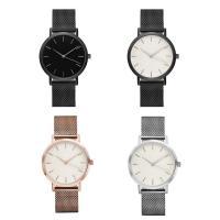 Unisexe Armbanduhr, Zinklegierung, mit Glas & Edelstahl, plattiert, keine, 40x5mm, Länge:ca. 9 ZollInch, verkauft von PC