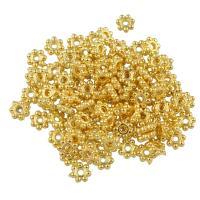 Zink Legierung Perlen Schmuck, Zinklegierung, goldfarben plattiert, frei von Blei & Kadmium, 4x1.5mm, Bohrung:ca. 0.8mm, 100PCs/Tasche, verkauft von Tasche