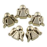 Zink Legierung Perlen Schmuck, Zinklegierung, vergoldet, frei von Blei & Kadmium, 13x11x8mm, Bohrung:ca. 4mm, 20PCs/Tasche, verkauft von Tasche