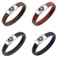 Kuhhaut Armband, Edelstahl Bajonettverschluss, Spinne, für den Menschen & Schwärzen, keine, 13mm, verkauft per ca. 8.3 ZollInch Strang
