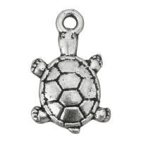 Zinklegierung Tier Anhänger, Schildkröter, antik silberfarben plattiert, frei von Nickel, Blei & Kadmium, 11.50x19x3mm, Bohrung:ca. 2mm, ca. 200PCs/Tasche, verkauft von Tasche