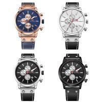 MINIFOCUS® Uhrenkollektion, Leder, mit Glas & Edelstahl & Zinklegierung, plattiert, einstellbar & für den Menschen, keine, 47x12mm, Länge:ca. 10 ZollInch, verkauft von PC