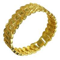 Messing-Armbänder, Messing, 24 K vergoldet, unisex, 17.50mm, verkauft per ca. 8 ZollInch Strang