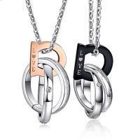 Edelstahl Schmuck Halskette, plattiert, Oval-Kette & mit Strass, keine, verkauft per ca. 19.6 ZollInch Strang