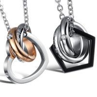 Edelstahl Schmuck Halskette, plattiert, Oval-Kette & verschiedene Stile für Wahl & mit kubischem Zirkonia, verkauft von Strang