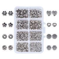 Zinklegierung Perle, mit Kunststoff Kasten, antik silberfarben plattiert, gemischt, frei von Blei & Kadmium, 110x70x30mm, Bohrung:ca. 1-2mm, 400PCs/Box, verkauft von Box