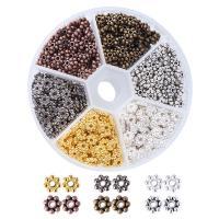 Zinklegierung Zwischenperlen, mit Kunststoff Kasten, plattiert, gemischte Farben, frei von Blei & Kadmium, 6x2mm, Bohrung:ca. 1.5mm, 600PCs/Box, verkauft von Box