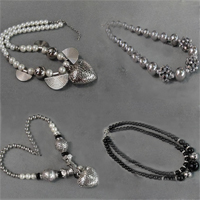 Glass Pearl Beads CCB Necklace