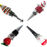 Christmas Lampwork Bottle Stopper