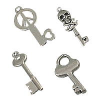Zinc Alloy Key Pendants