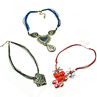 Zinc Alloy Wax Cord Necklace