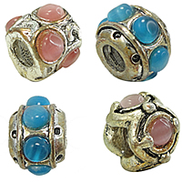Cats Eye Brass European Beads