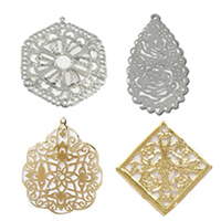 Filigree Iron Pendants